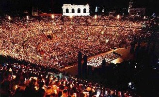Arena di Verona at night