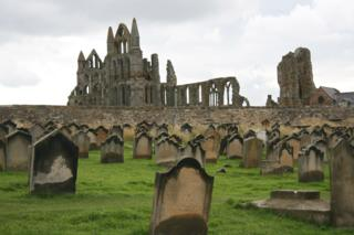 The remains of Whitby Abbey