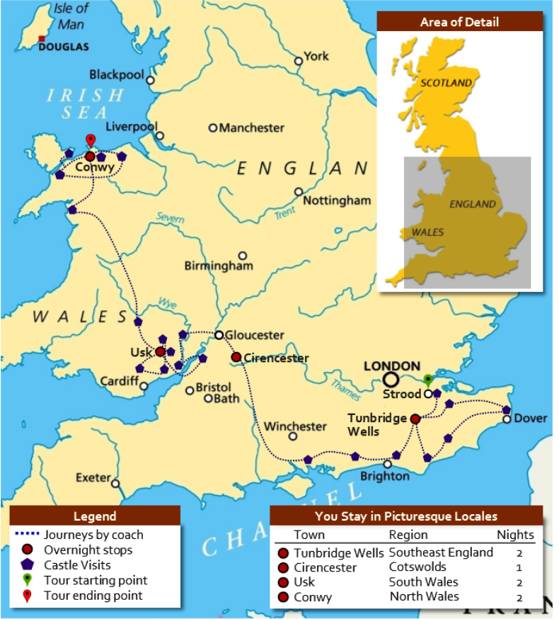 Map Of England Castles.Sojourn Map Scholarly Sojourns